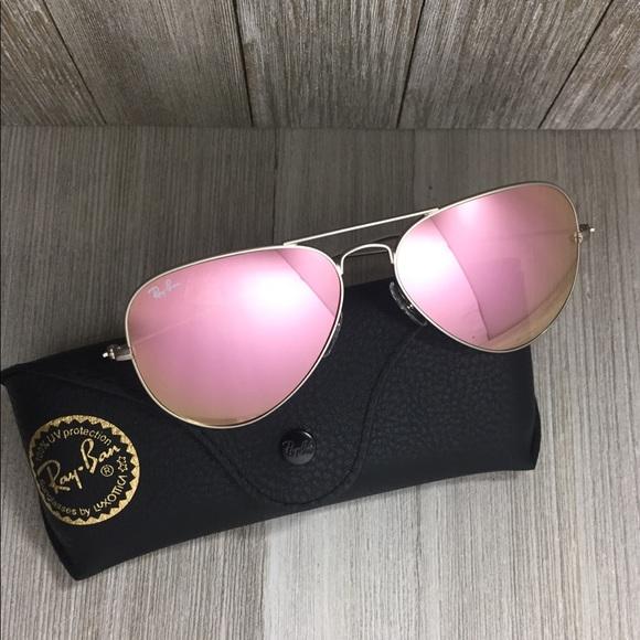 c05d9b26d1c Ray Ban Aviator Sunglasses Pink Silver RB3025